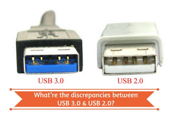 What are the discrepancies between USB 3.0 & USB 2.0