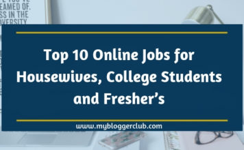 Top 10 Online Jobs for Housewives, College Students and Freshers
