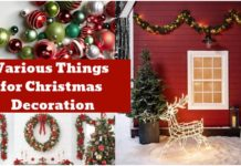 6 Various Things you can use for Christmas decoration