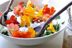 Floral food item