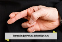 Remedies for Perjury in Family Court
