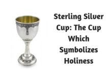Sterling Silver Cup- The Cup Which Symbolizes Holiness