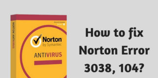 How to fix Norton Error 3038, 104