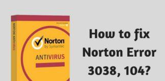 How to fix Norton Error 3038, 104