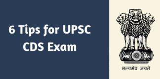 6 Tips for UPSC CDS Exam