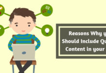 Reasons Why you Should Include Quality Content in your SEO