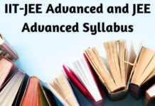 IIT-JEE Advanced and JEE Advanced Syllabus