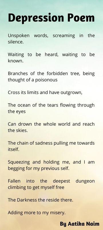 Depression Poem by aatika naim